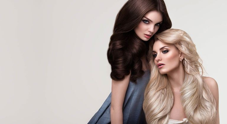 IdHAIR Niophlex women with blond and brown hair